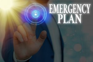 Text sign showing Emergency Plan. Business photo text procedures for handling sudden or unexpected situations